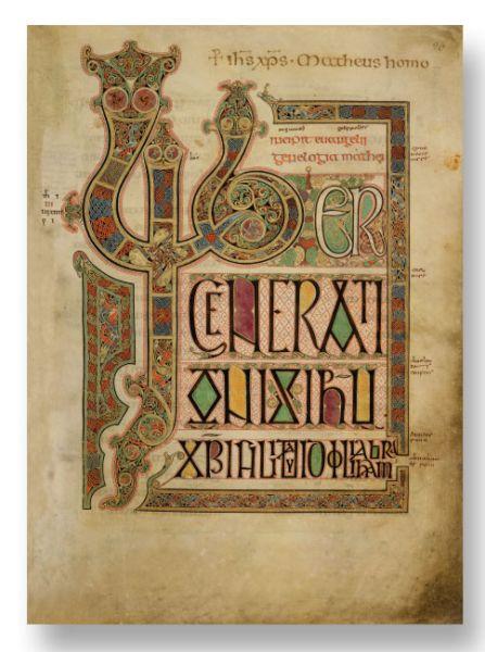 Das Buch von Lindisfarne - Codex Lindisfarensis - Lindisfarne Gospels